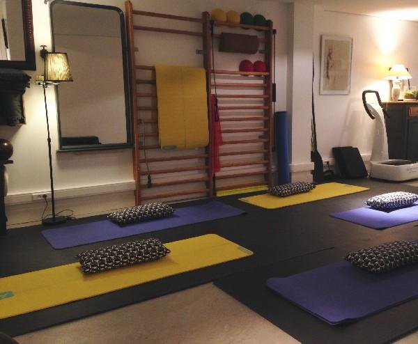 La salle pour les cours de Yoga
